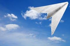 Avion de papier Image stock