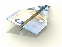 Avion de papier Images libres de droits