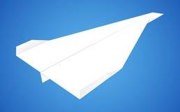 Avion de papier Photographie stock libre de droits
