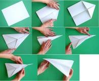 Avion de papier photographie stock