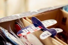Avion de papier de Jour de la Déclaration d'Indépendance Image libre de droits
