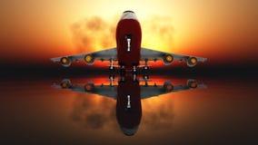 Avion de passagers Images libres de droits