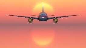 Avion de passagers Photo libre de droits