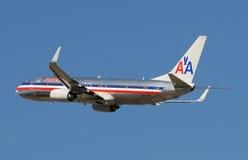 Avion de passagers américain d'avion de ligne Image stock