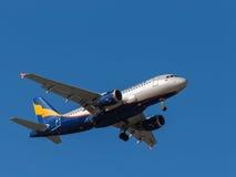Avion de passagers d'Airbus A319 Photographie stock libre de droits