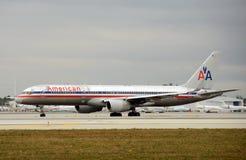 Avion de passagers d'American Airlines Photo libre de droits