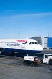 Avion de passagers de British Airways Photographie stock libre de droits