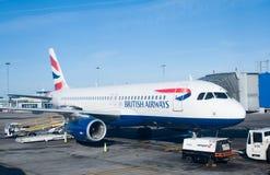 Avion de passagers de British Airways Image stock