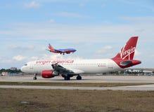 Avion de passagers de l'Amérique de Vierge Photographie stock libre de droits
