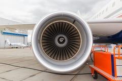Avion de passagers de moteur à réaction Photo stock