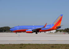 Avion de passagers de Southwest Airlines Boeing 737 Images stock