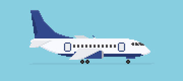 Avion de pixel illustration de vecteur