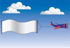 Avion de publicité Image libre de droits