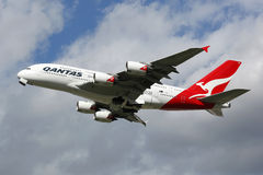 Avion de Qantas Airbus A380 Images stock