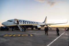 Avion de Ryanair Boeing 737-800 en Dublin Airport Photo libre de droits