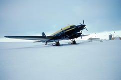 Avion de ski Photo stock