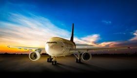 Avion de stationnement Images libres de droits