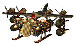 Avion de steampunk d'imagination Photo stock