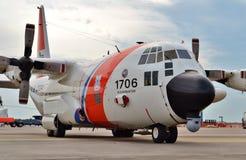 Avion de surveillance de la garde côtière C-130H Photos libres de droits