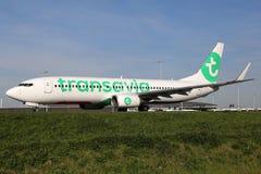 Avion de Transavia Boeing 737-800 Images libres de droits