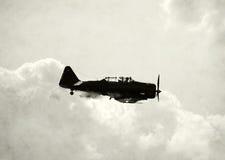 Avion de turbopropulseur de cru photo stock
