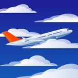 Avion de vol Photographie stock libre de droits