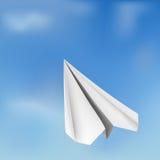 Avion de vol d'origami de vecteur Photographie stock libre de droits