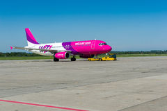 Avion de Wizzair Photo stock