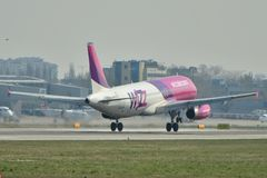 Avion de Wizzair Photographie stock