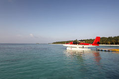 Avion des Maldives Photographie stock