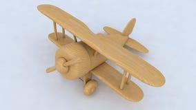 Avion en bois de jouet 3d rendent Images stock