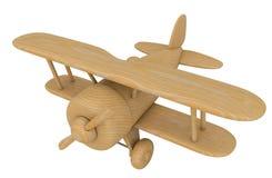 Avion en bois de jouet 3d rendent Photos stock