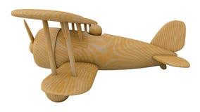 Avion en bois de jouet 3d rendent Images libres de droits