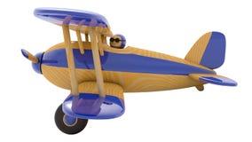 Avion en bois de jouet 3d rendent Photos libres de droits