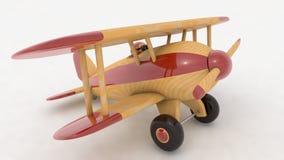 Avion en bois de jouet 3d rendent Image libre de droits