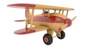 Avion en bois de jouet 3d rendent Image stock