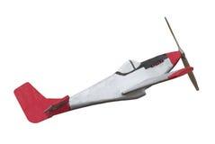 Avion en bois de vieux jouet d'isolement Photo stock
