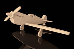 avion en bois du jouet 3d Image libre de droits