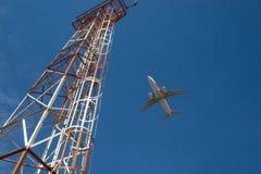 Avion en ciel Images libres de droits