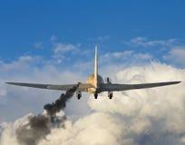Avion endommagé photographie stock libre de droits