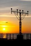 Avion et aéroport Image libre de droits