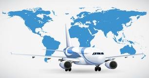 Avion et atlas bleu Images stock