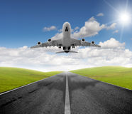 Avion et déviation Photographie stock libre de droits