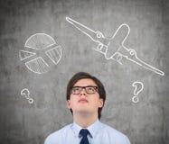 Avion et diagramme images stock