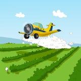 Avion et pesticides Image libre de droits