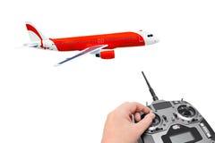 Avion et radio de RC à télécommande Images stock