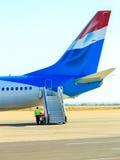 Avion et substance fonctionnante Images libres de droits