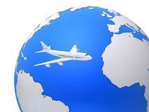 Avion global illustration libre de droits