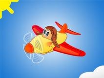 Avion heureux Illustration de Vecteur