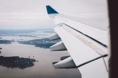 Avion intérieur au Canada Images stock